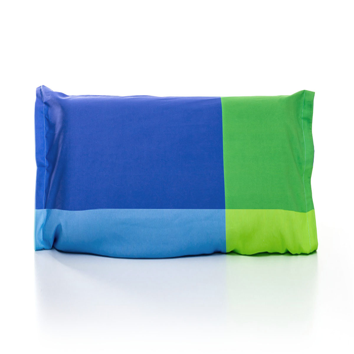 Fronha Quadrados Azul E Verde