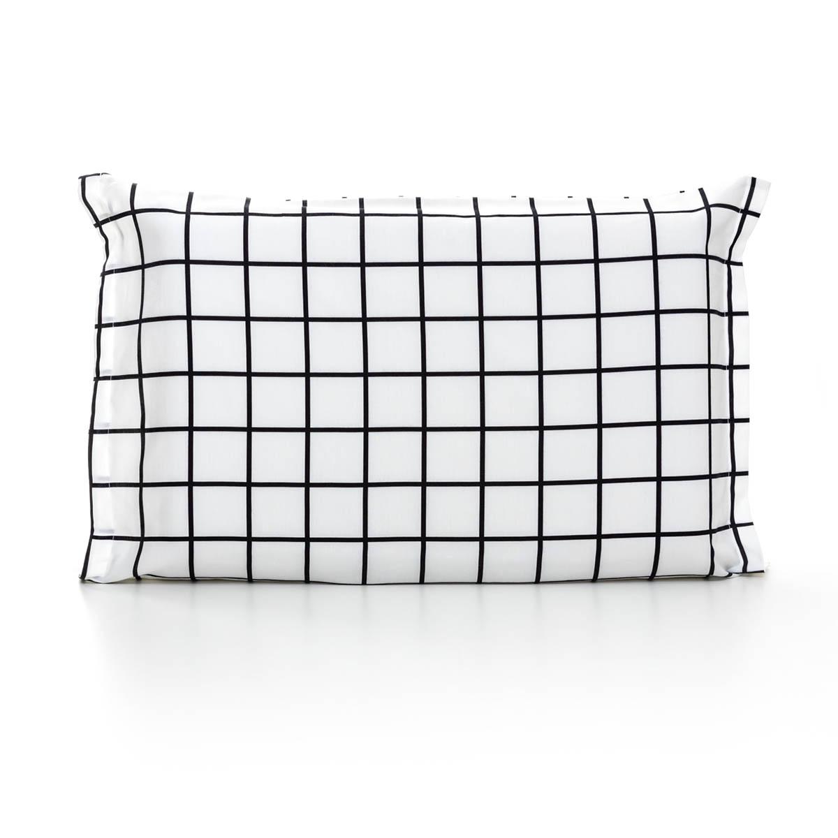 Fronha Quadriculado Grid Preto E Branco