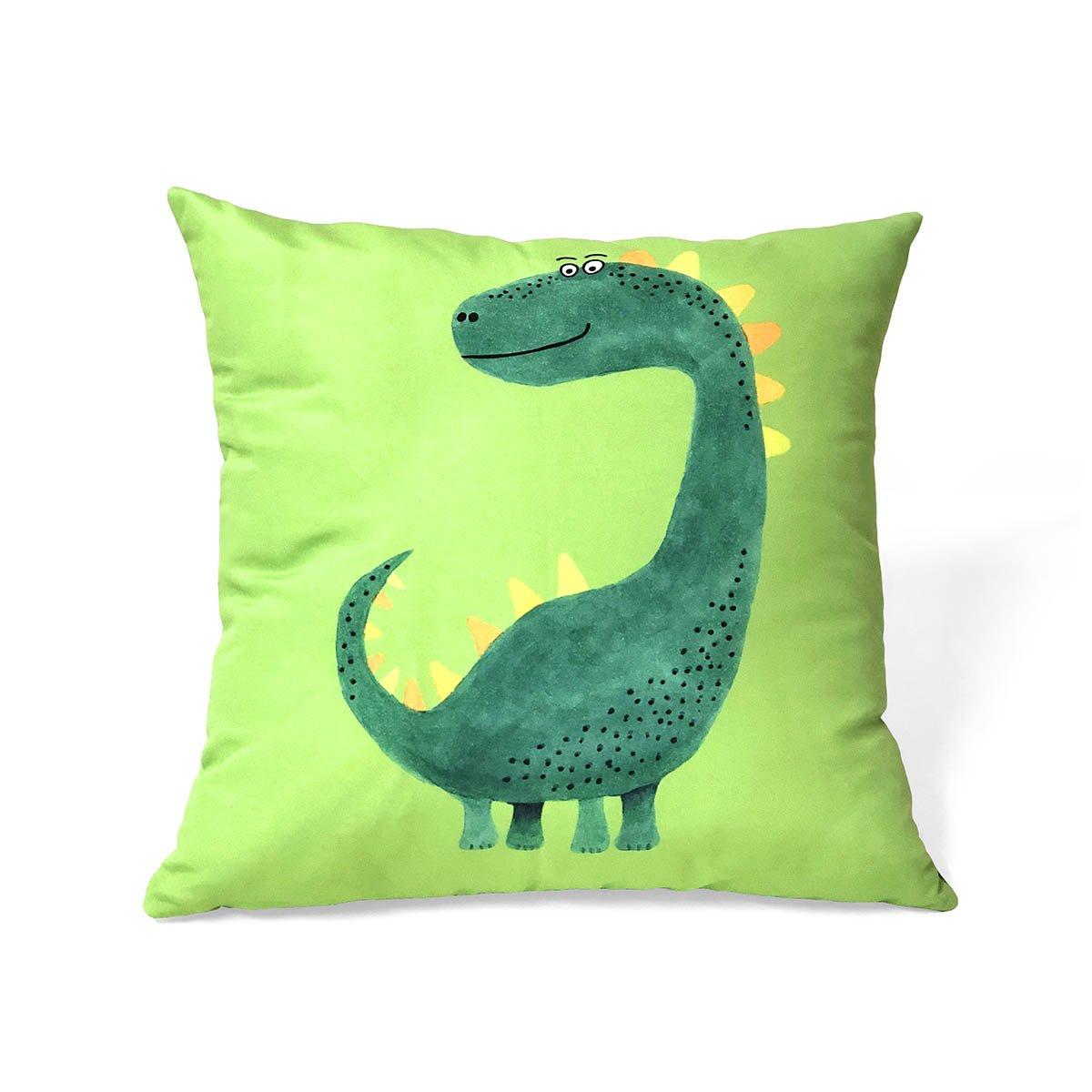 Capa De Almofada Dinossauro Verde Limão E Verde Bandeira