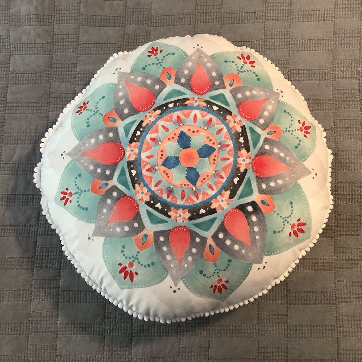 Almofada Redonda Mandala Modelo 2