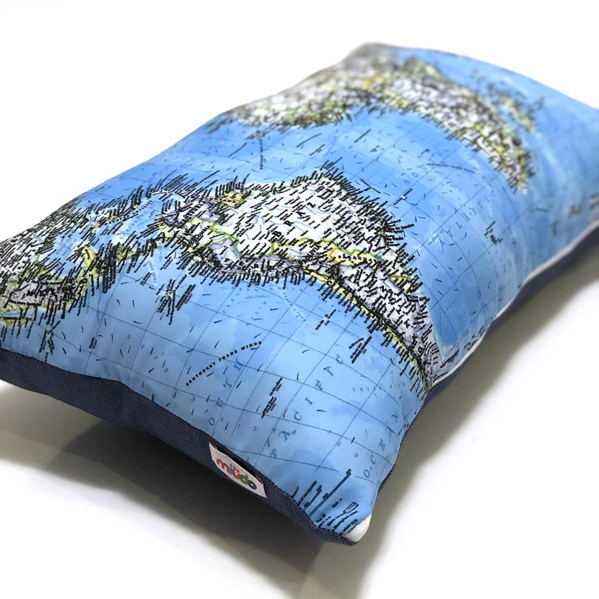 Almofada Mapa Mundi Retangular