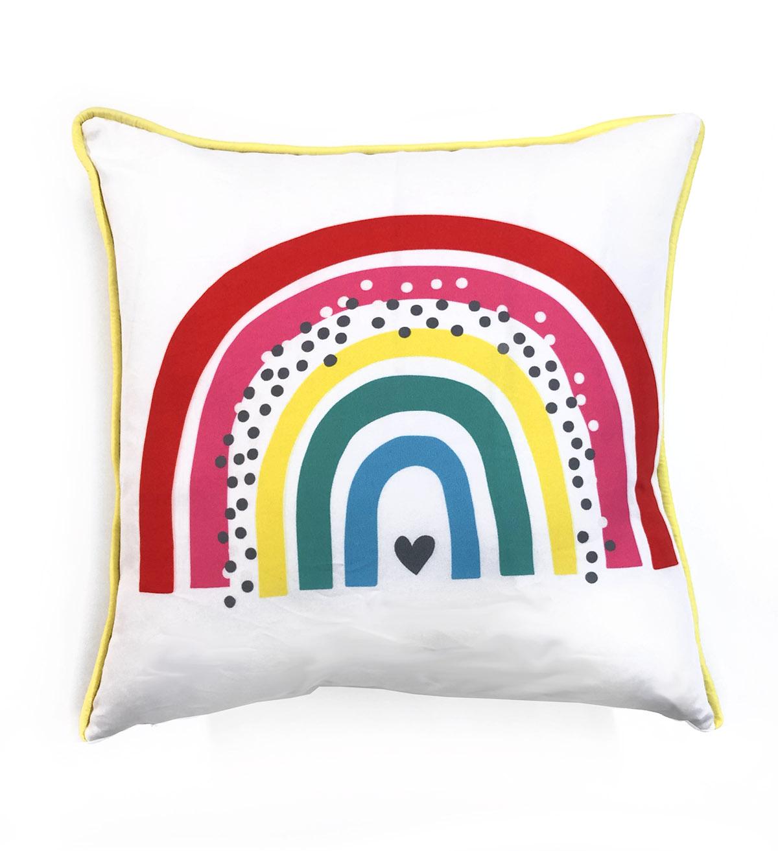 Capa De Almofada Quadrada Arco-íris Costas Poá Colorido