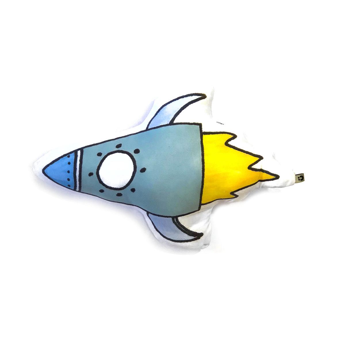 Almofadinha Toy Foguete Turquesa E Azul