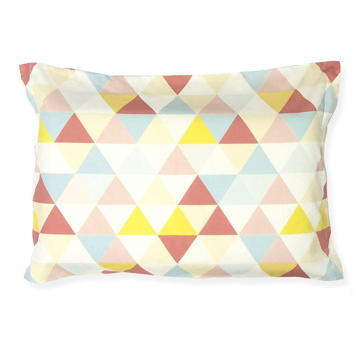 Fronha Triângulos Rosa, Amarelo E Azul