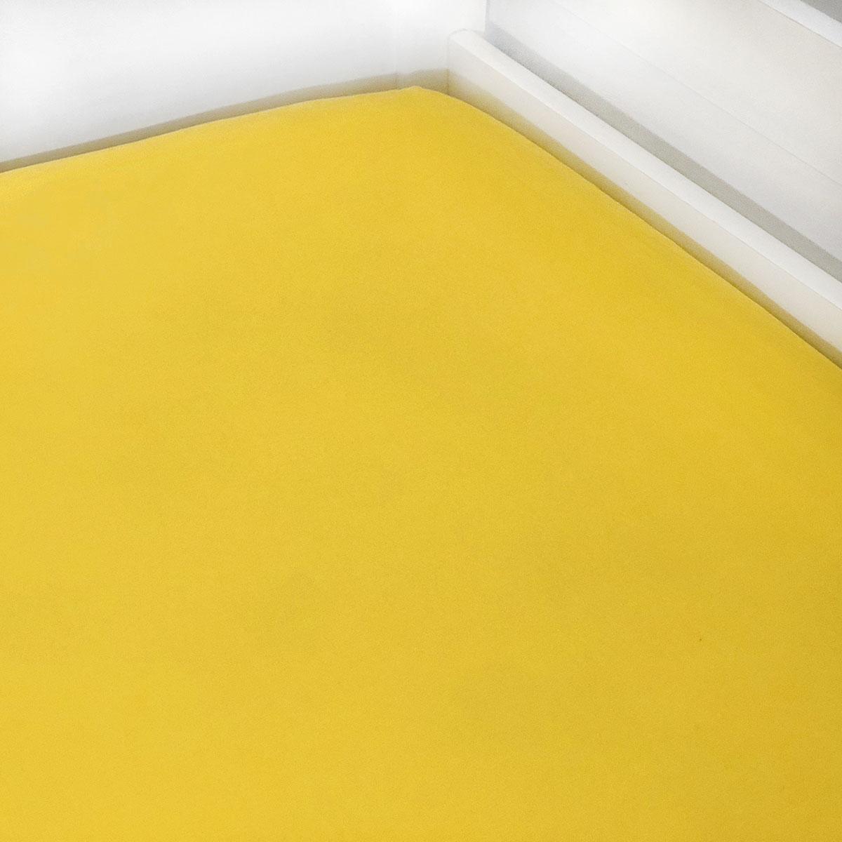 Lençol De Elástico Liso Amarelo Ovo