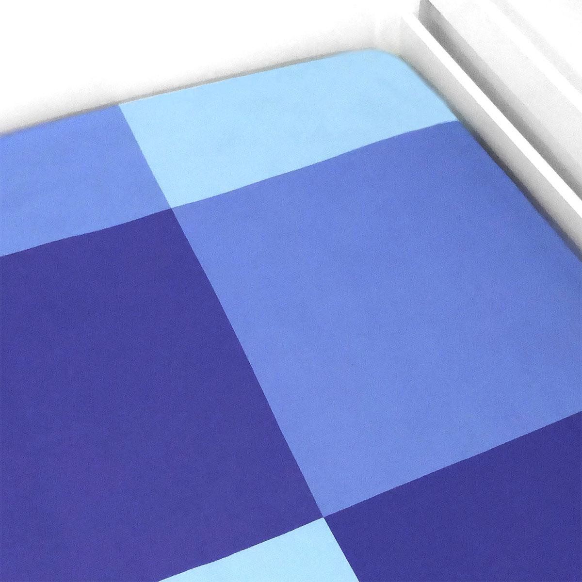 Lençol De Elástico Quadrados Azul E Verde