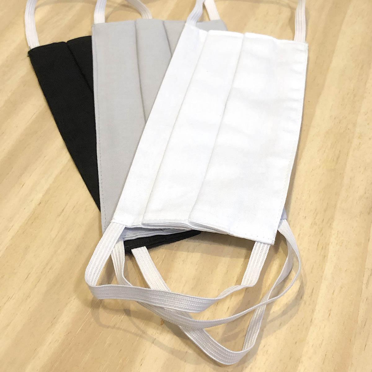 Kit 3 Máscaras Protetoras Preta, Cinza E Branca Adulto