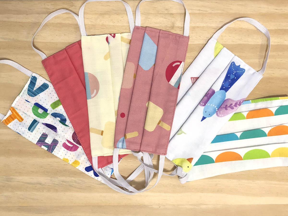 Kit 3 Máscaras Protetoras Infantis Coloridas 1