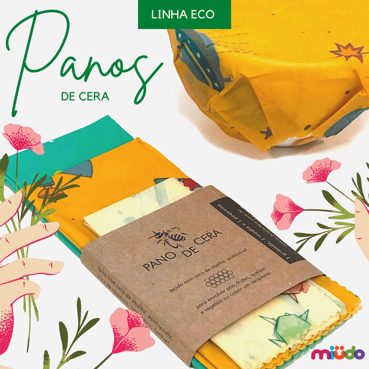 Kit 3 Panos De Cera (estampas Sortidas)