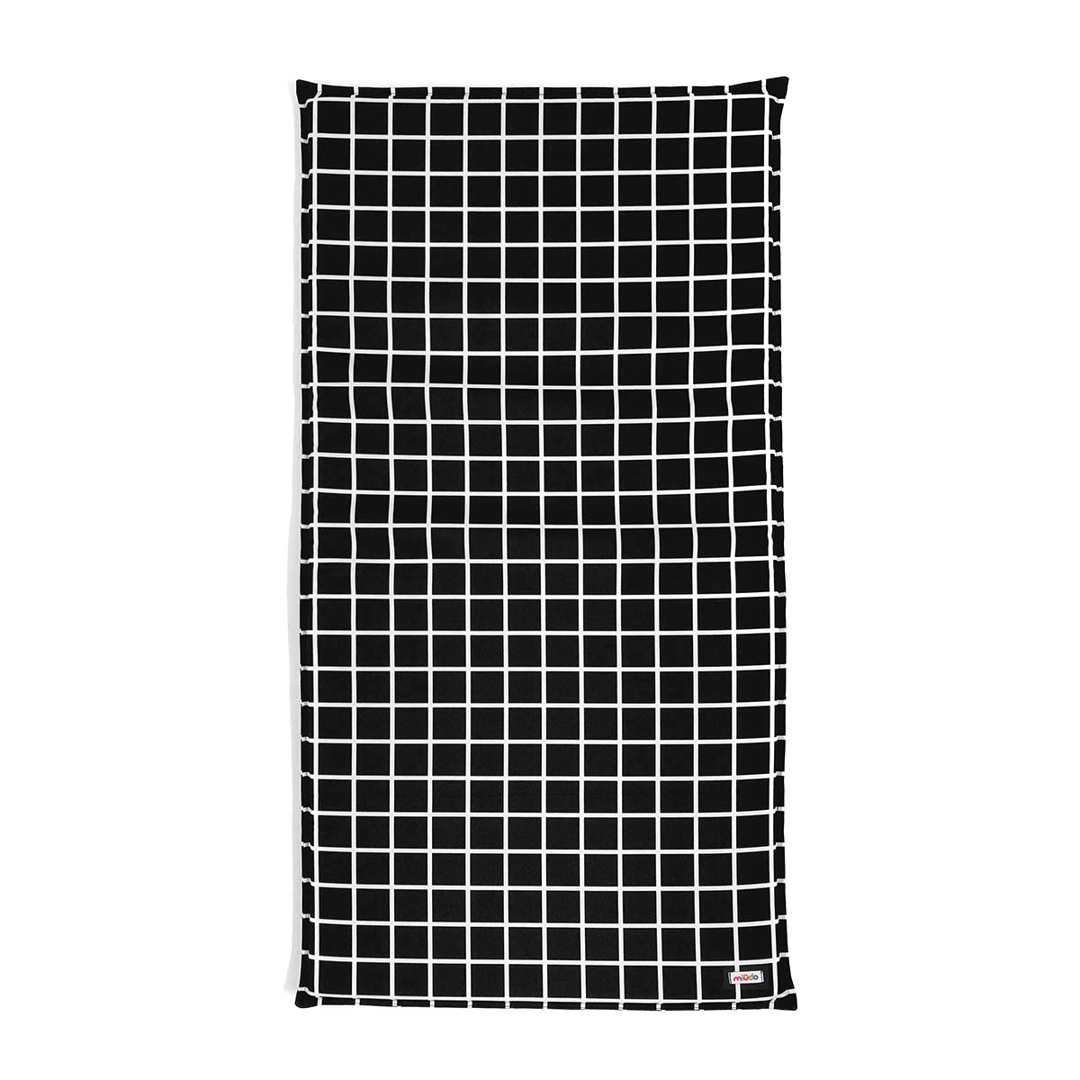 Colchonete De Ginástica Quadriculado Grid Preto E Branco