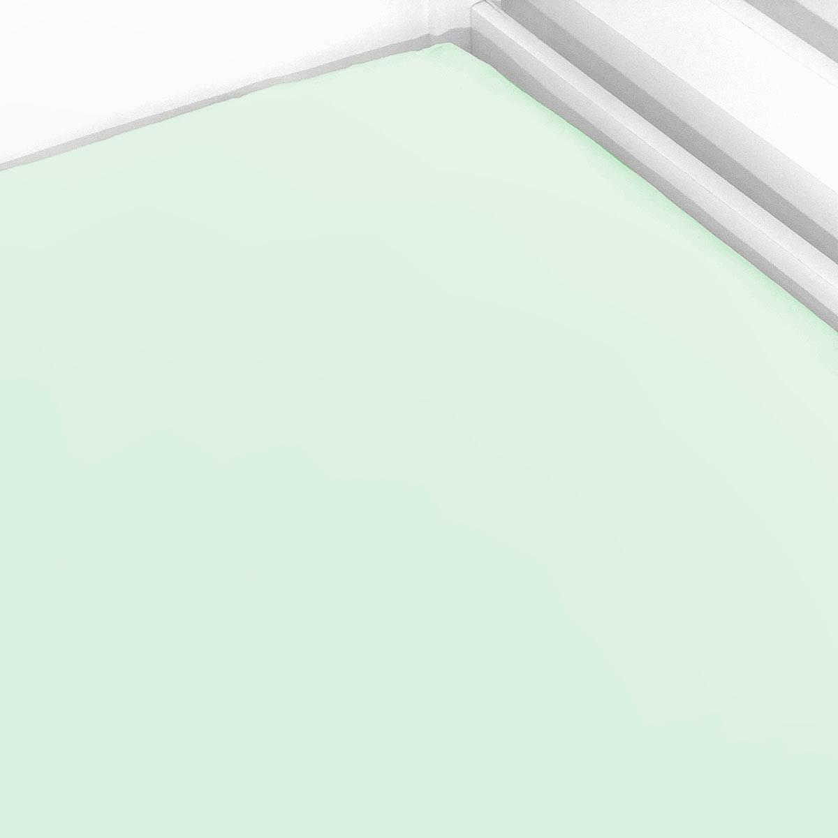 Lençol De Elástico Liso Verde Menta