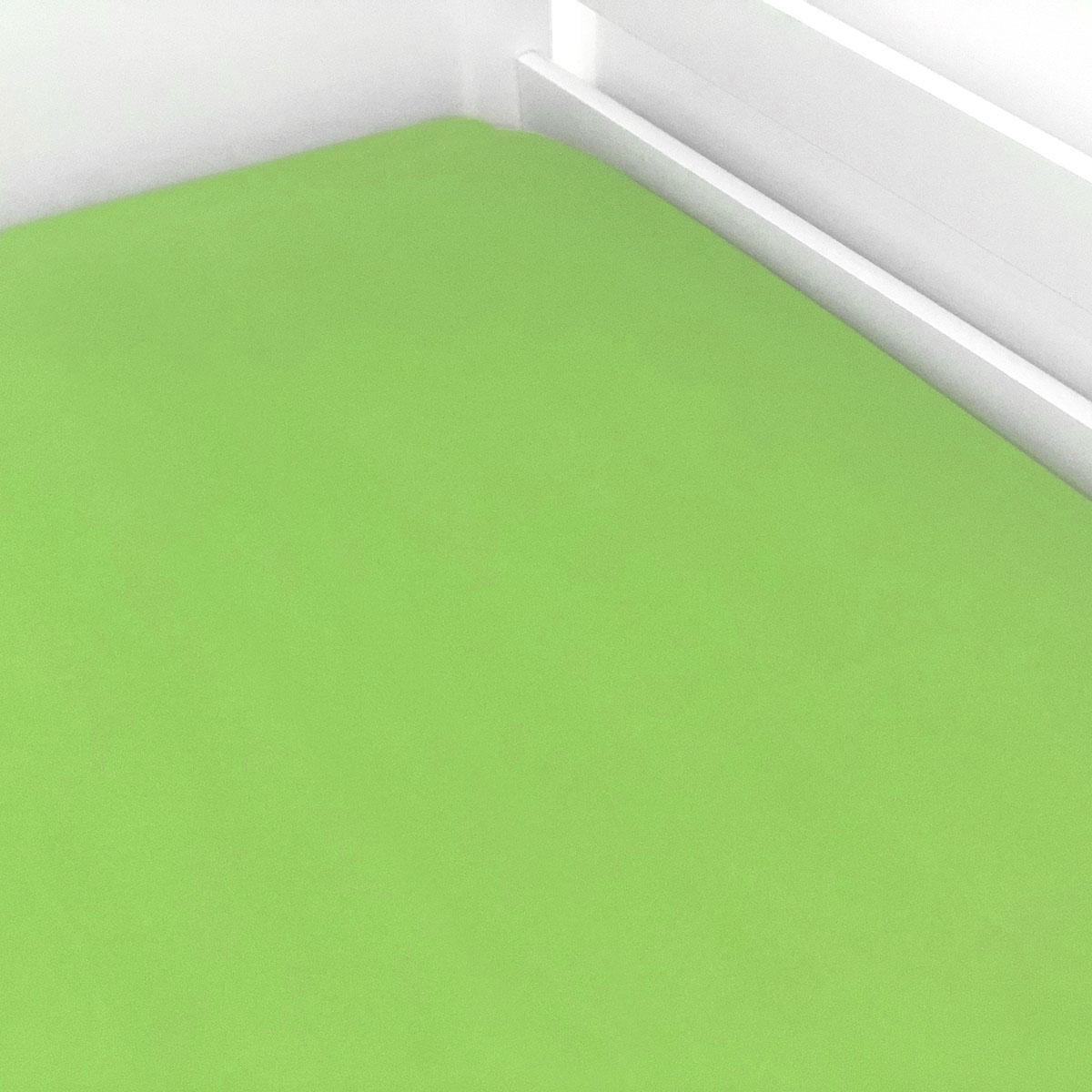 Lençol De Elástico Liso Verde Limão
