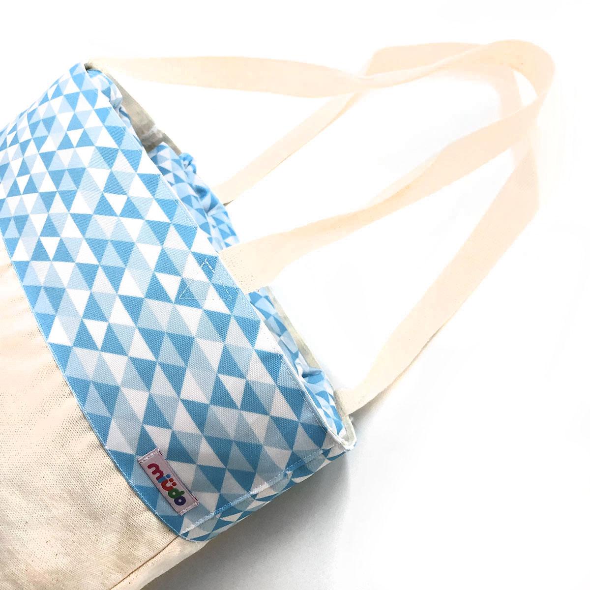 Tapete Nylon Losango Azul Com Bolsa